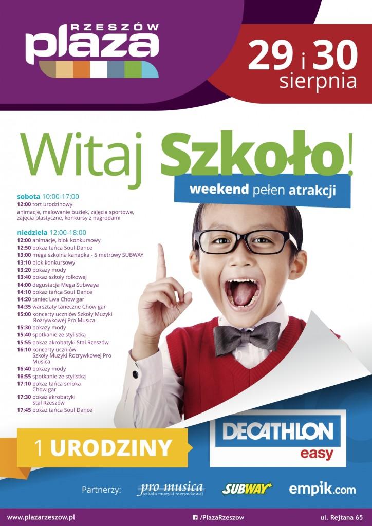 Plakat Witaj Szkoło