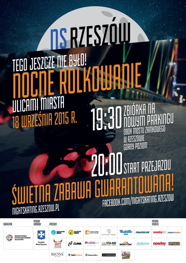 Nightskating Rzeszów - plakat